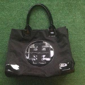 NWOT large Tory Burch shopping tote bag black